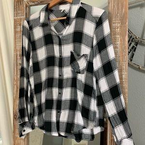 bp Tops - BP Nordstrom Black and White Plaid Shirt